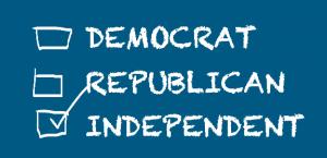 Onafhankelijk-blauw